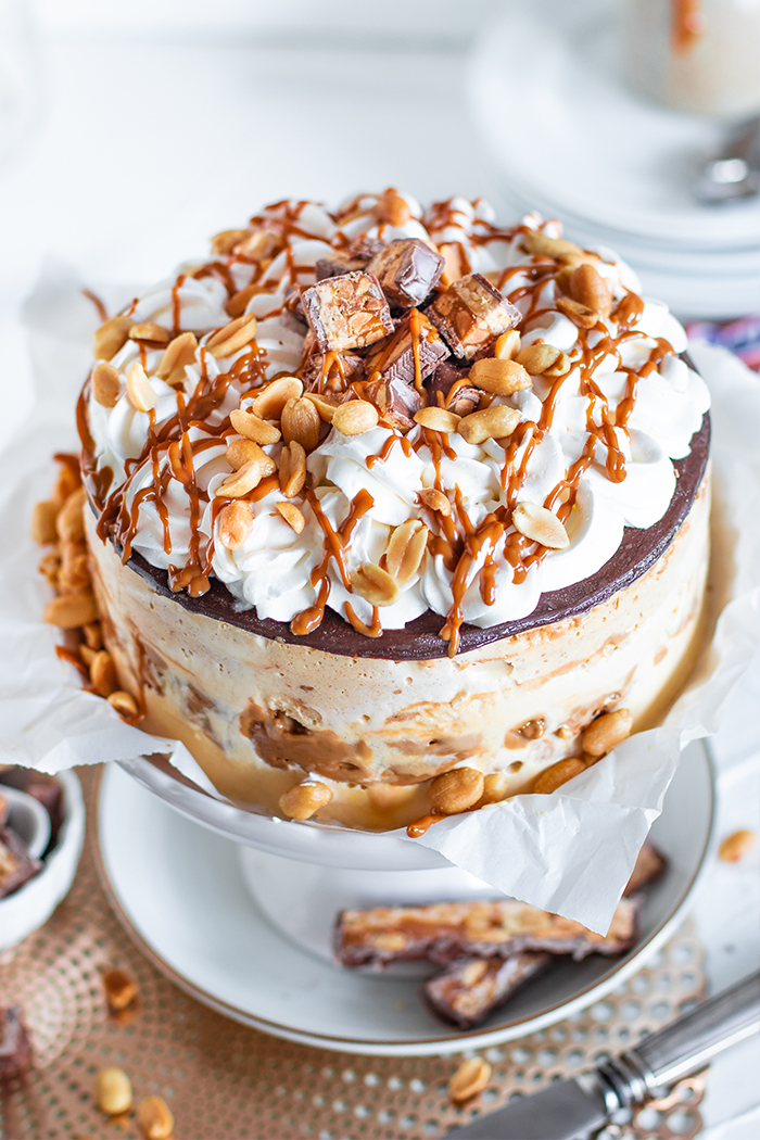 Snickers Eiscreme Torte