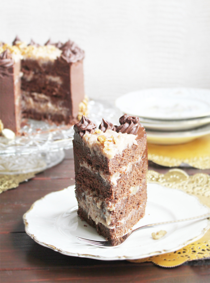 German Chocolate Cake_Slice