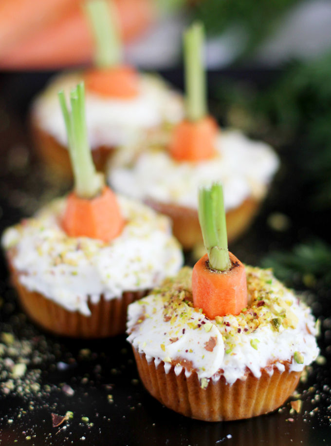 Carrot Cupcakes_close up flach