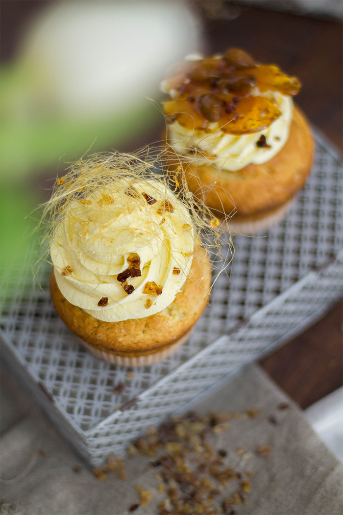 Bienenstich Cupcakes_Winterideen mit Kandis Diamant_Close Up