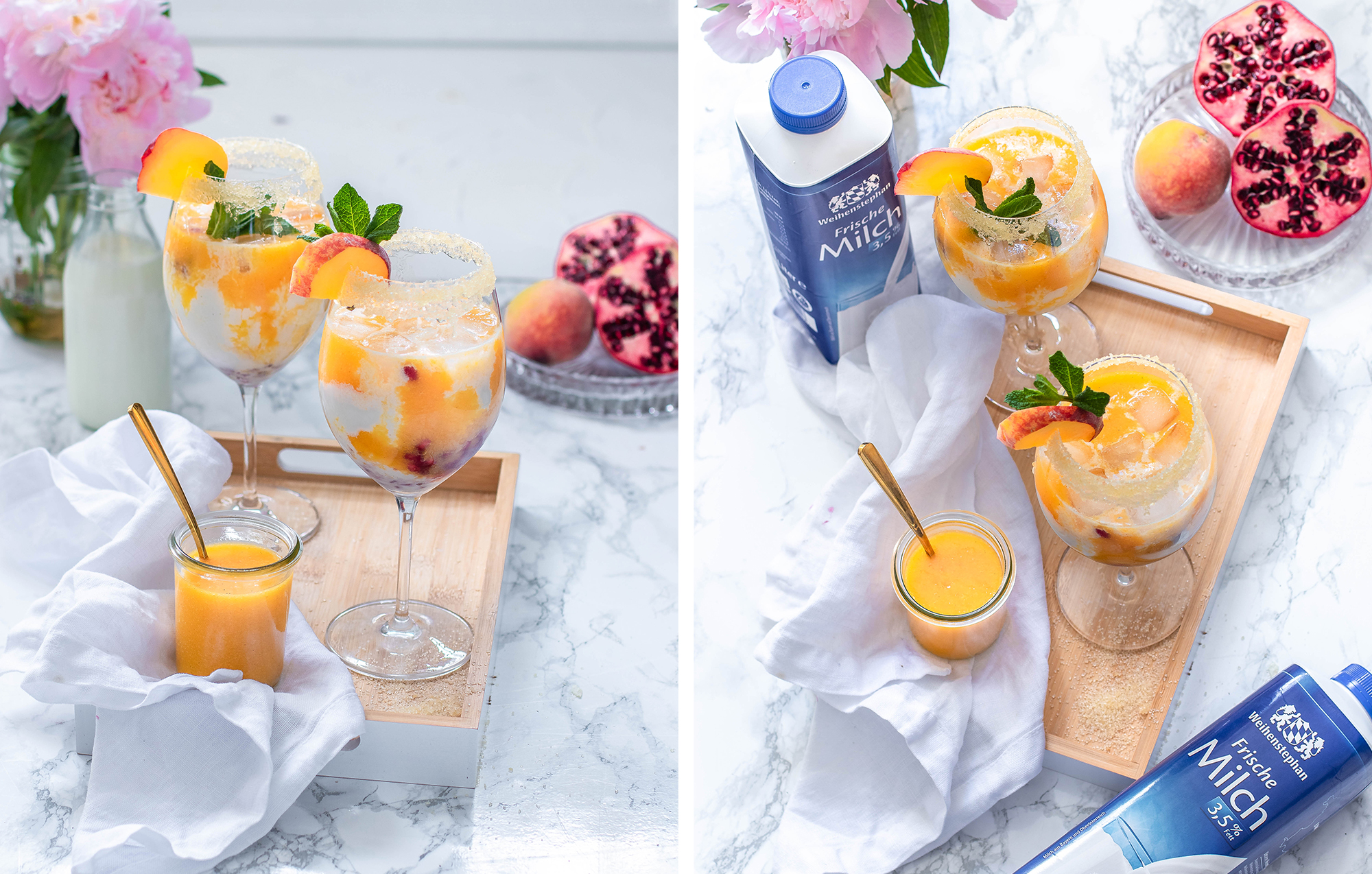 Peaches and Cream Mocktail